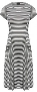 Stripe pattern swing dress