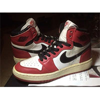 Autographed Nike Air Jordan 1 trainers or sneakers